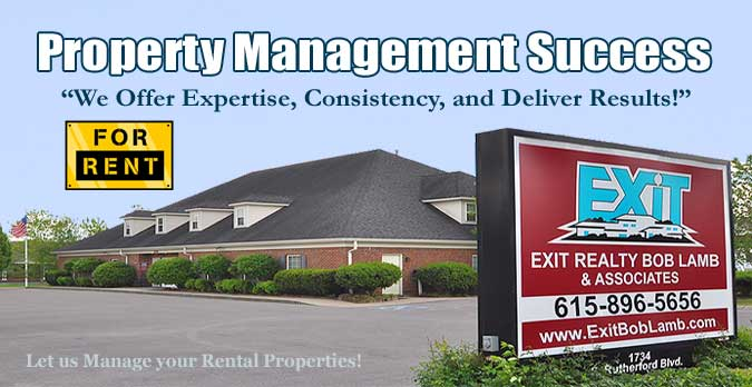 Murfreesboro Property Management Solutions by EXIT Realty Bob Lamb and Associates