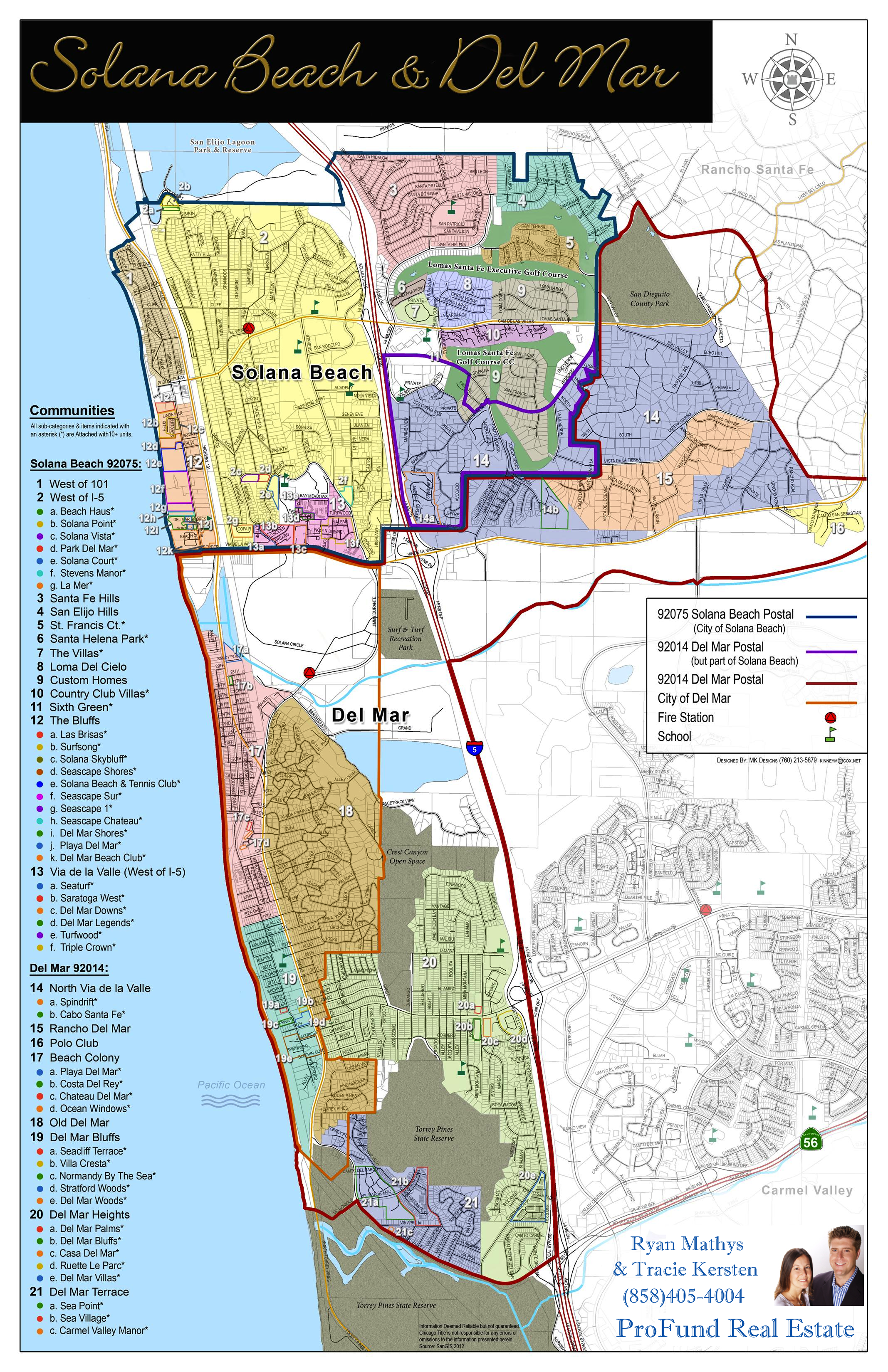 Map Of Solana Beach And Del Mar