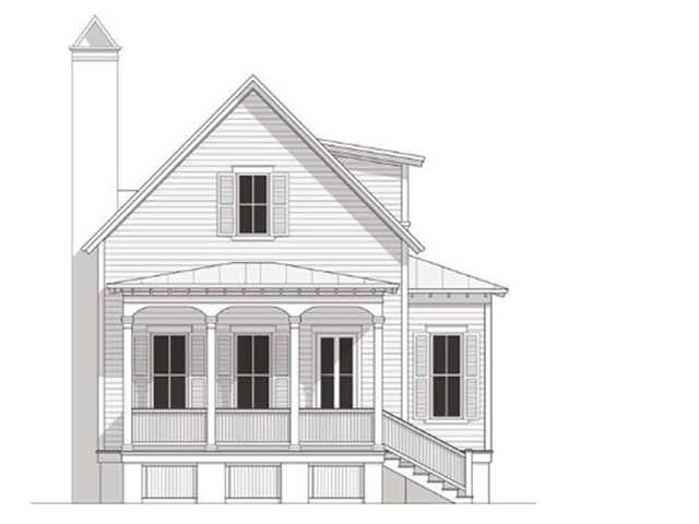 Front of the proposed home at 105 May Lane, Mount Pleasant, SC