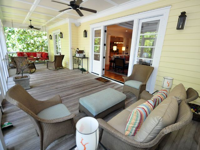 Screen porch at 1315 Cove Ave, Sullivan's Island