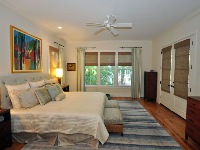 Master bedroom at 1315 Cove Ave, Sullivan's Island listed by The Cassina Group