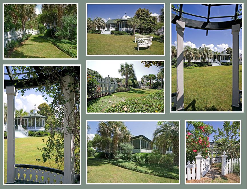 Pictures of the backyard at 2502 Atlantic Ave, Sullivan's Island, SC