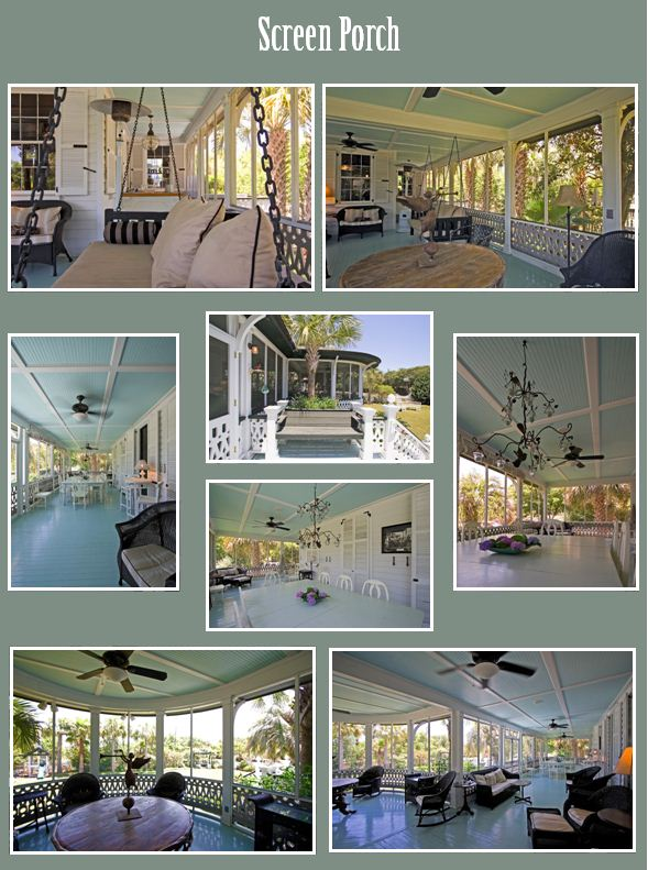 Photos of the Screen Porch at 2502 Atlantic Ave, Sullivan's Island, SC